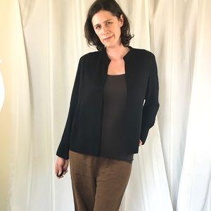 Eileen Fisher pleated silk jacket